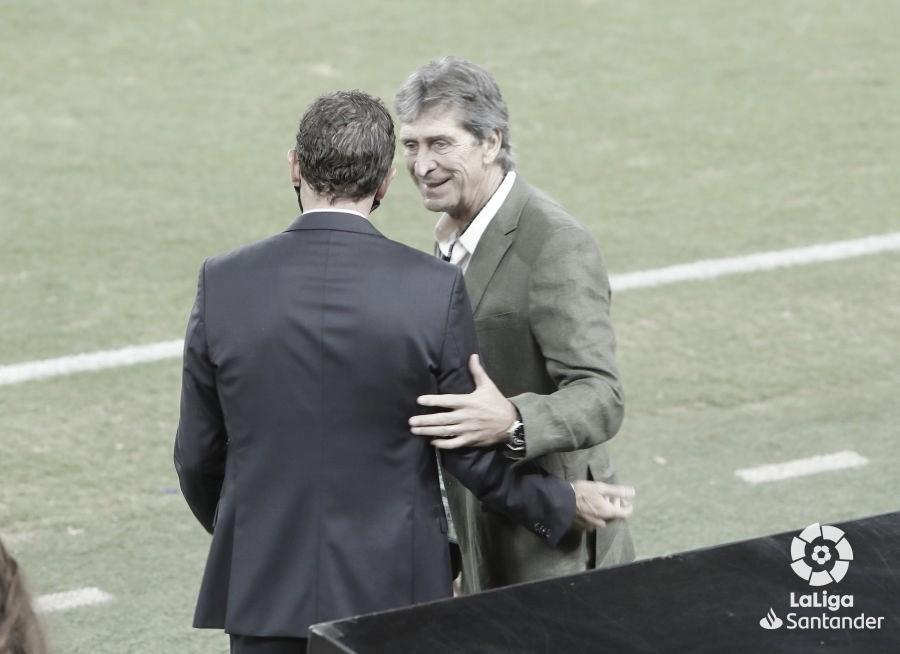 El técnico bético en el duelo ante el Valencia C.F. Fuente: LaLiga