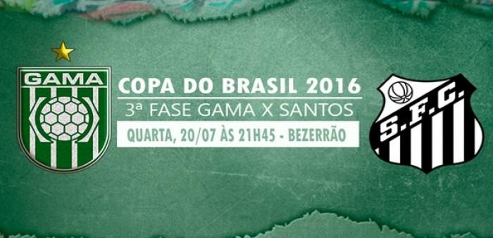 Gama e Santos empatam em zero a zero pela Copa do Brasil 2016