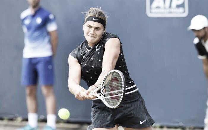 Sabalenka estreia com vitória e reeditará final com Wozniacki no WTA de Eastbourne