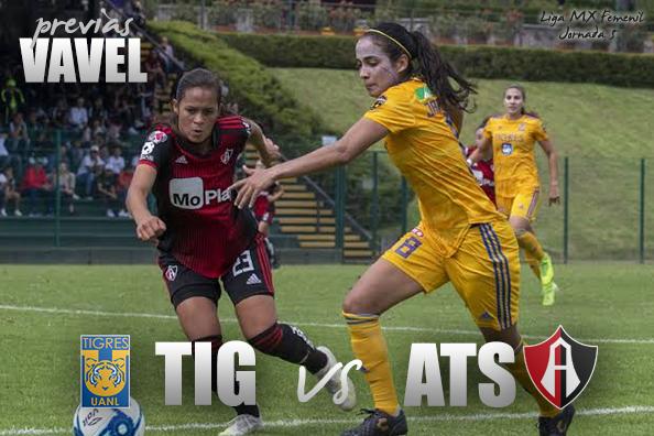 Previa Tigres - Atlas: duelo cumbre en la parte alta de la Liga MX Femenil