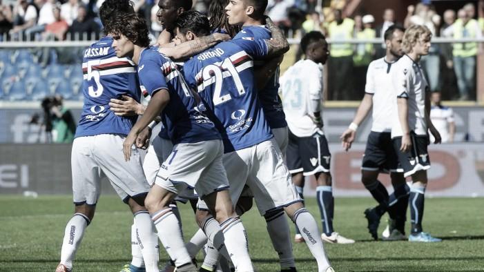 Sampdoria - Lazio in Serie A 2016/17 (1-2): la Lazio passa a Marassi!