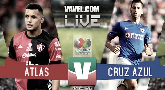 Resultado y goles del Atlas 2-1 Cruz Azul en Liga MX 2018