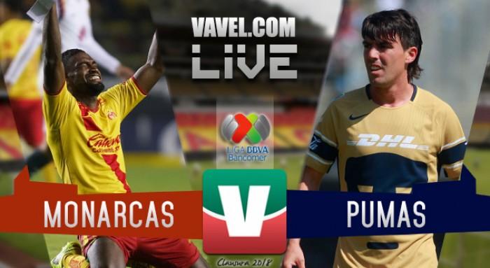 Morelia vs Pumas en vivo online en Liga MX 2018 (0-0)