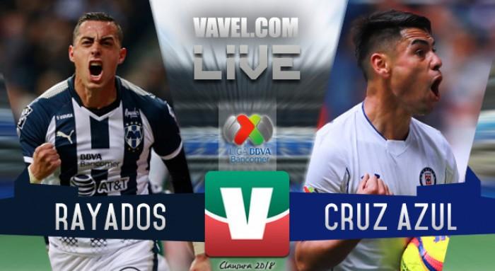 (LIVE NO REALIZADO) Monterrey vs Cruz Azul en vivo online en Liga MX 2018 (0-0)