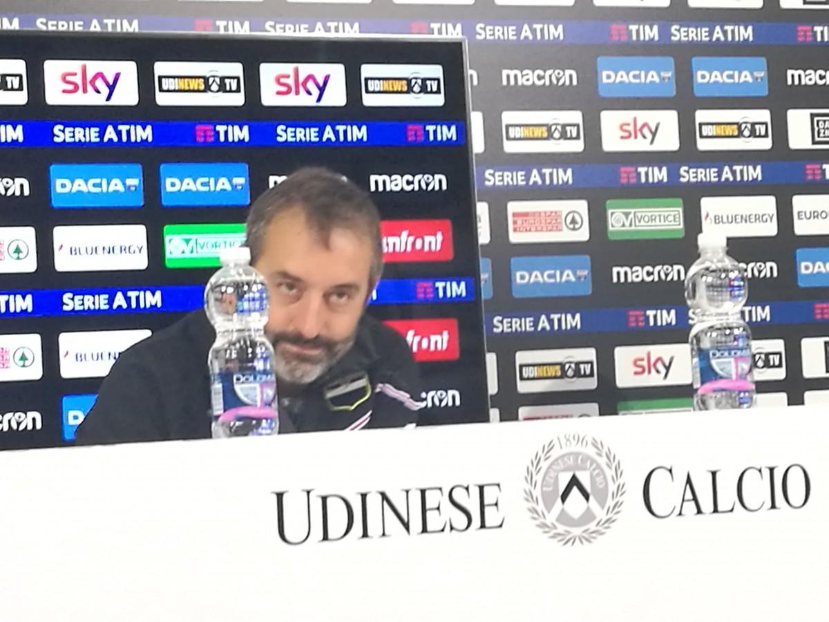 """Sampdoria - Giampaolo: """"Udinese più brillante, abbiamo giocato solo nell'ultima mezz'ora"""""""