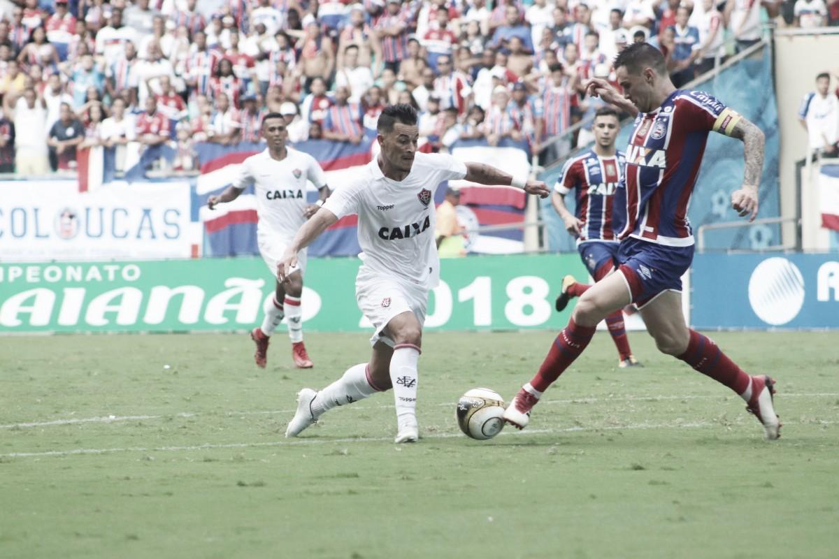Bahia faz valer mando de campo, supera Vitória e fica a um empate do título baiano