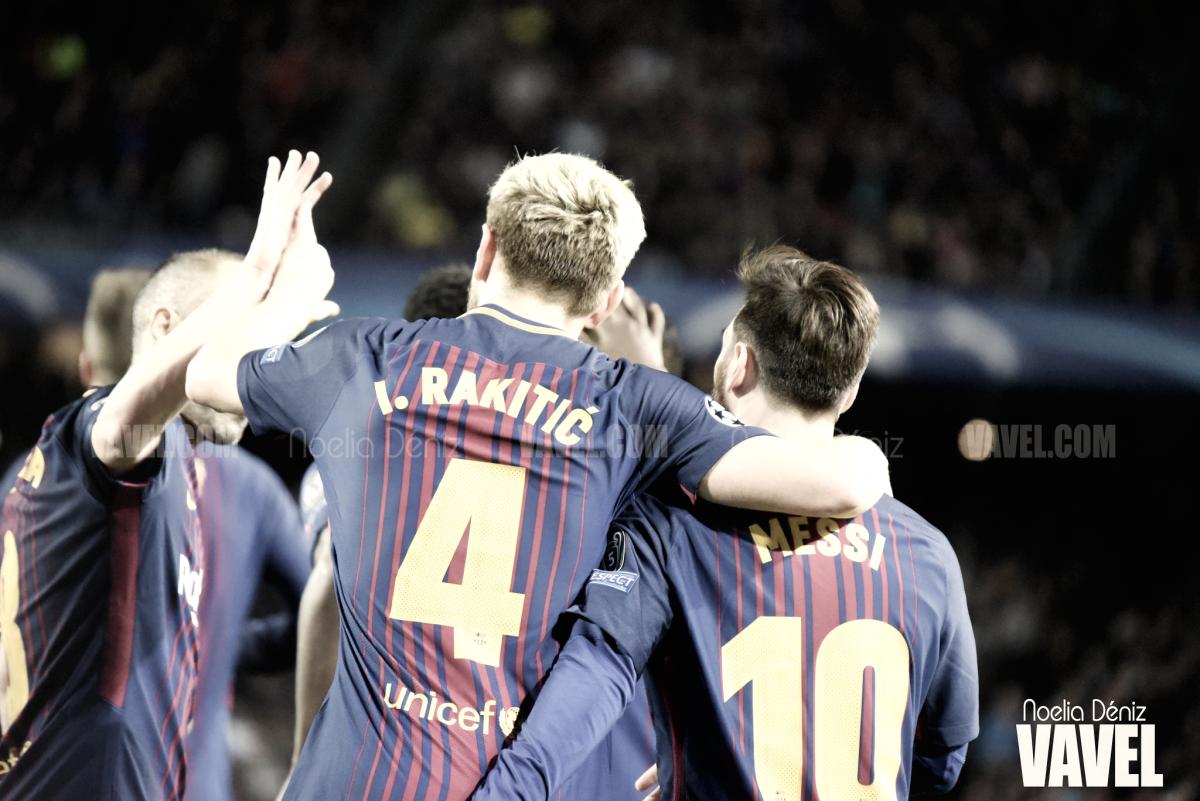 Fotos e imágenes del partido FC Barcelona 4-1 AS Roma, cuartos de final de la UEFA Champions League