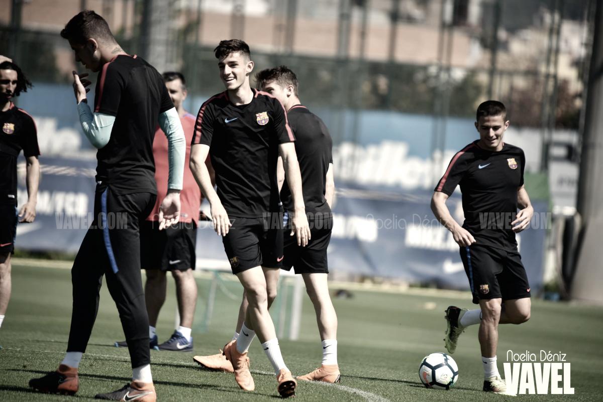 Fotos e imágenes del entrenamiento del Barça B previo al enfrentamiento contra el Cádiz