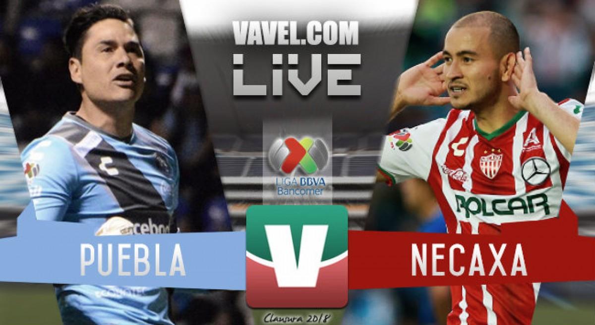 Resultado y goles del partido Puebla 1-1 Necaxa de la Liga MX 2018