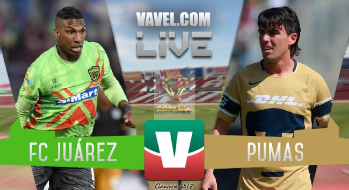 Resultado y goles del FC Juárez 1-1 Pumas en Copa MX 2018