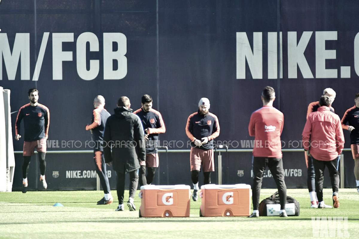 Sesión de entrenamiento con Andrés Iniesta