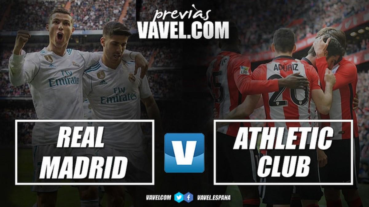 Previa Real Madrid-Athletic Club de Bilbao: los blancos a la caza del león