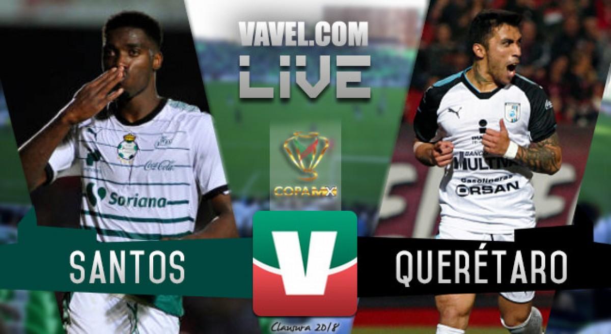 Resultado y goles del Santos 1-0 Querétaro en Copa MX 2018