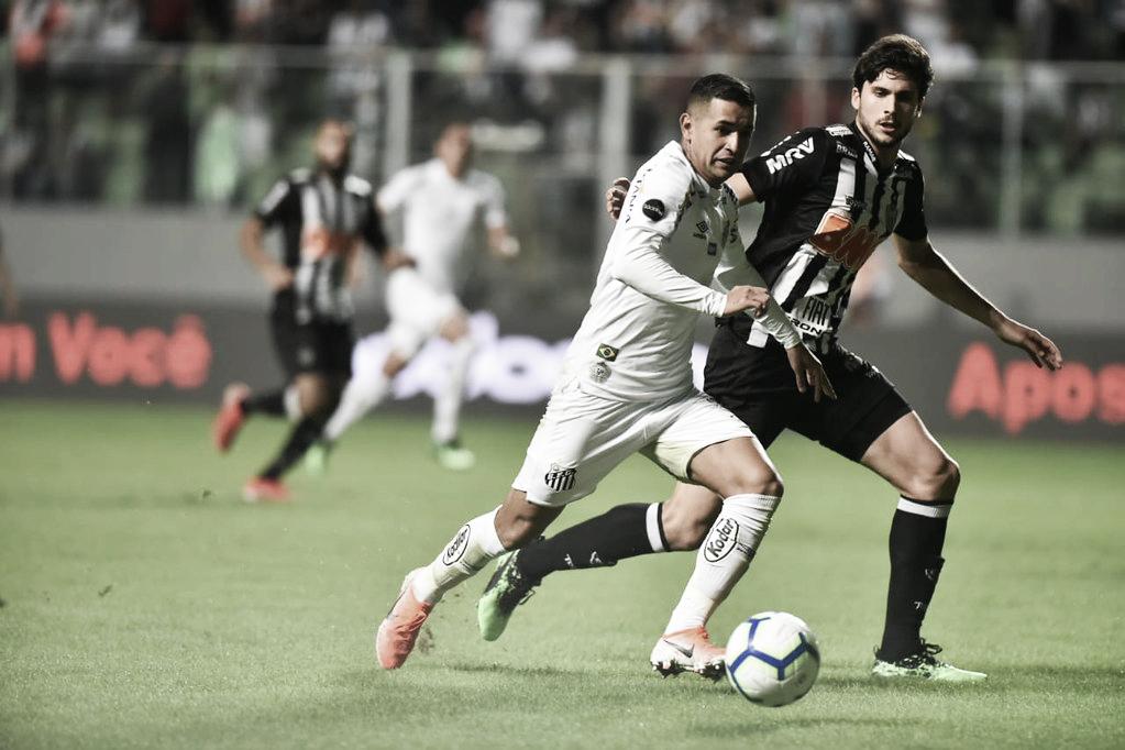 Atlético-MG e Santos empatam em jogo de ida pelas oitavas da Copa do Brasil