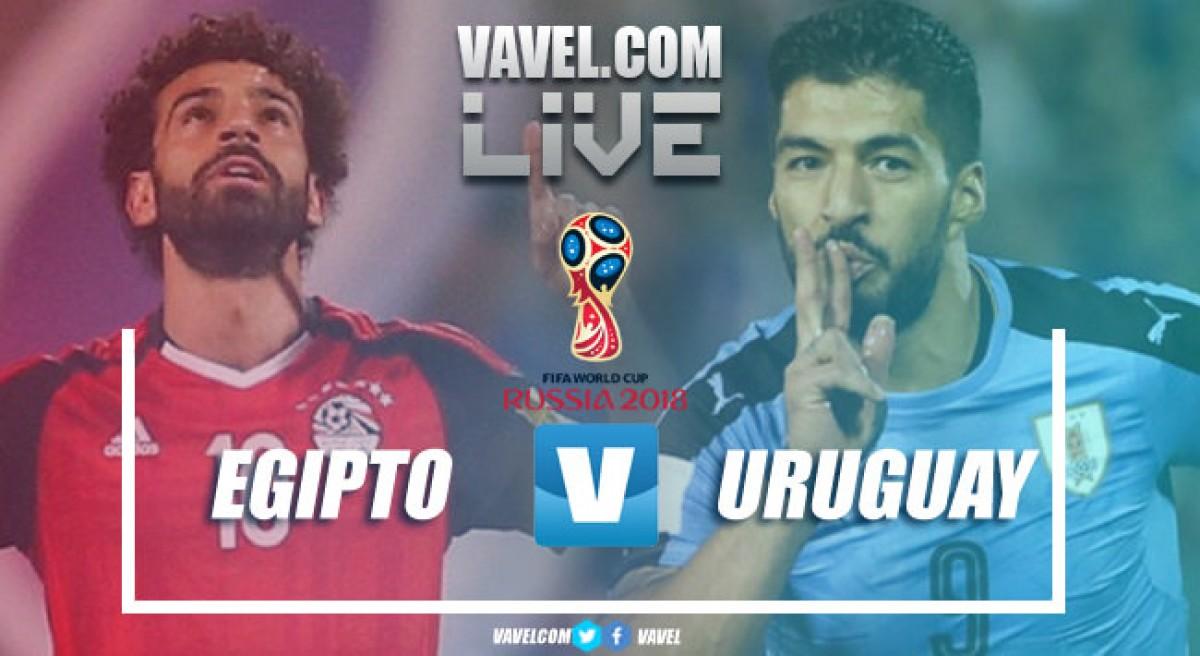 Resumen Egipto 0-1 Uruguay en la fase de grupos del Mundial de Rusia
