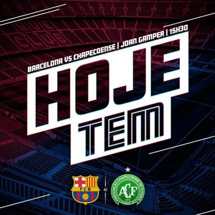 Siga a movimentação para o amistoso entre Barcelona e Chapecoense; acompanhe