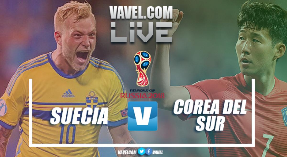 Resumen Suecia 1-0 Corea del Sur en Mundial Rusia 2018