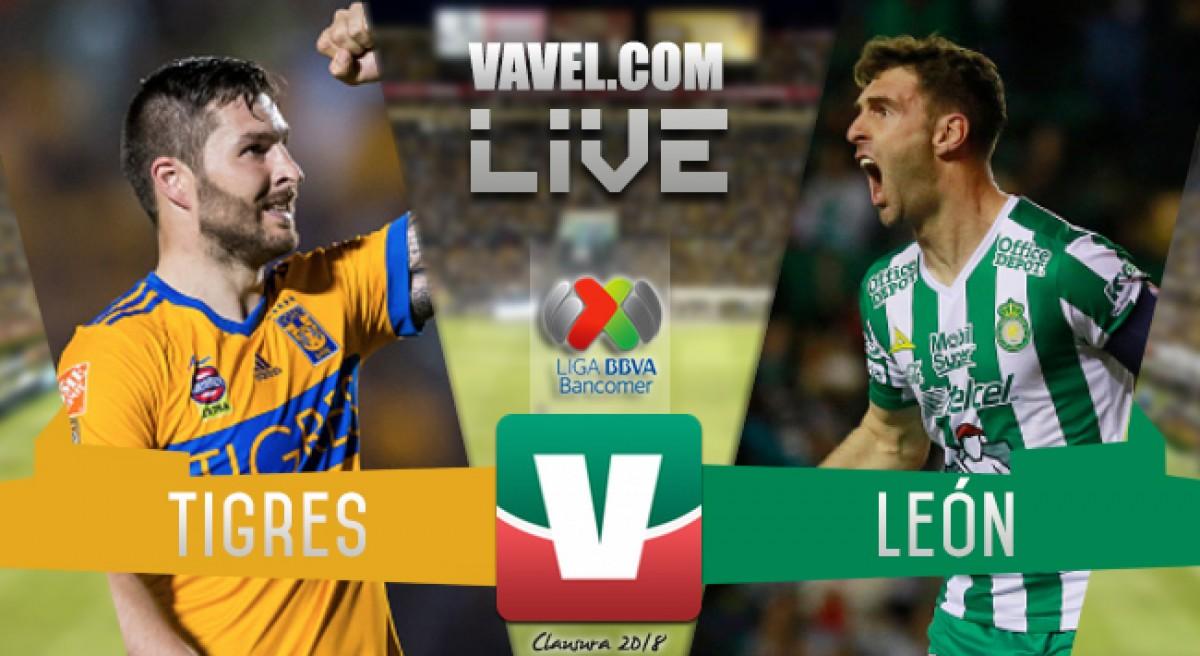 Resultado y goles del Tigres 4-0 León de la Liga MX 2018