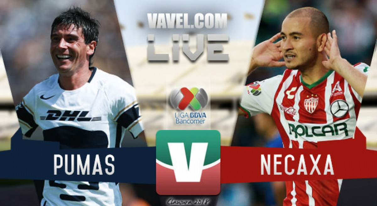 Resultado y goles del partido Pumas 1-1 Necaxa en Liga MX 2018