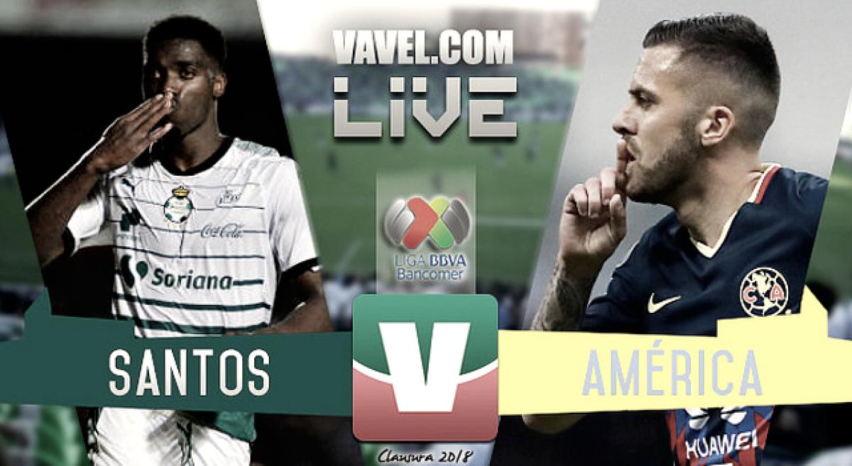 Resultado y goles del América (2-2) Santos