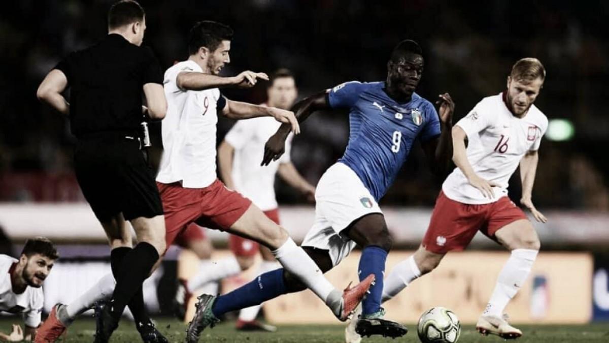 Tímido empate a uno entre Italia y Polonia