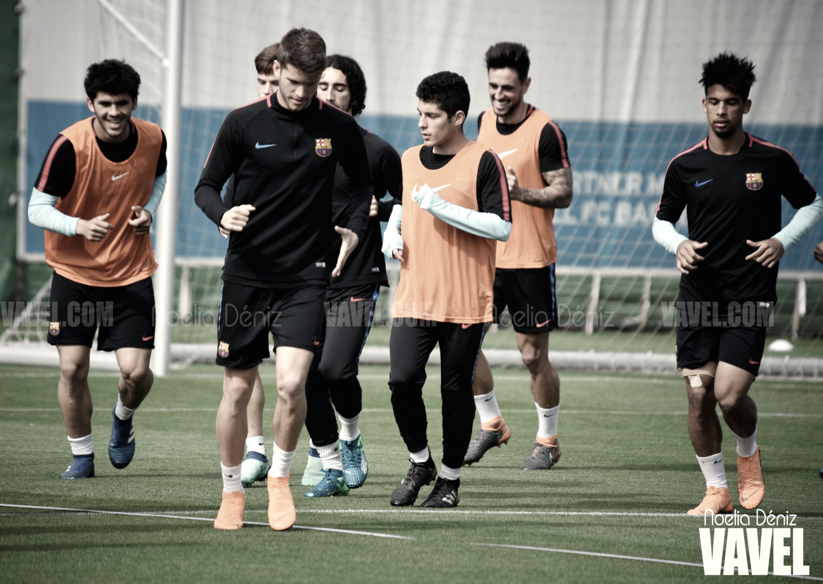 Fotos e imágenes del entrenamiento del Barça B previo al enfrentamiento contra la Cultural Leonesa