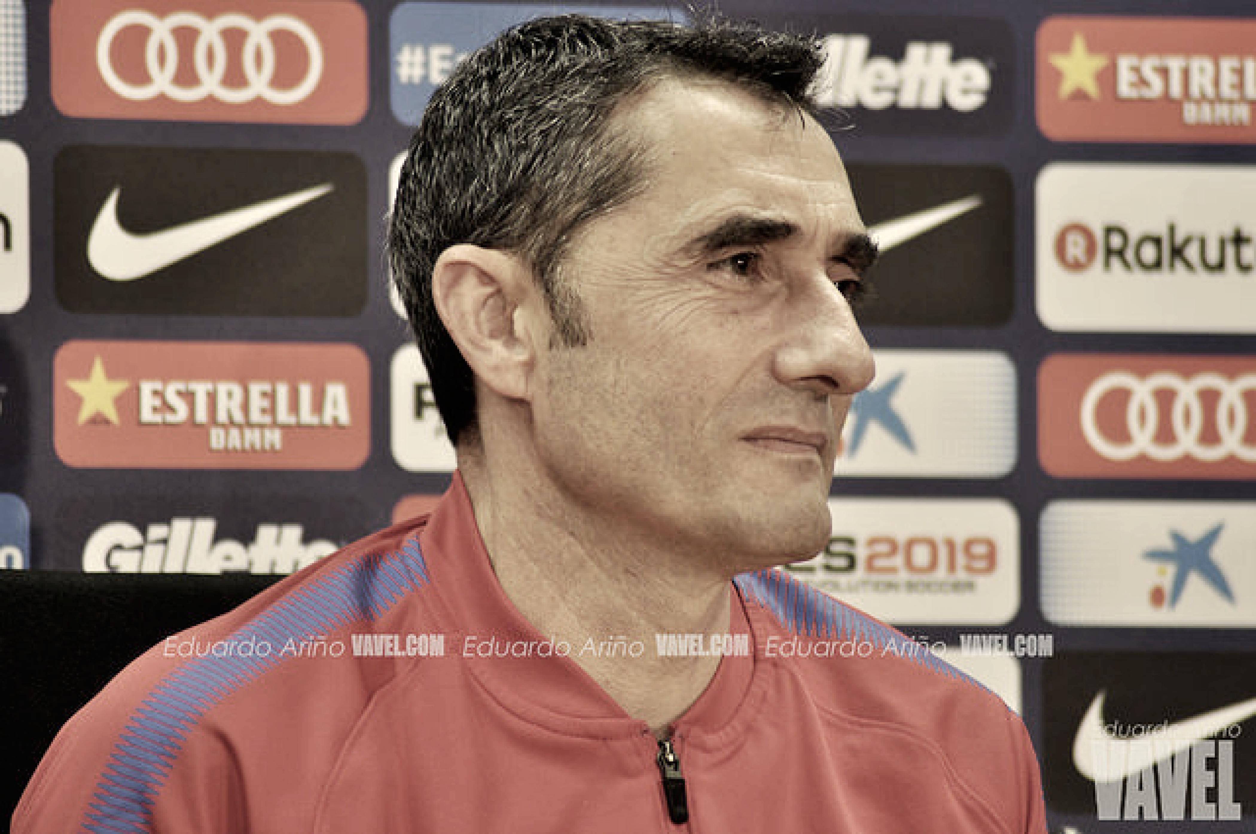 """Ernesto Valverde: """"No me voy muy preocupado"""""""