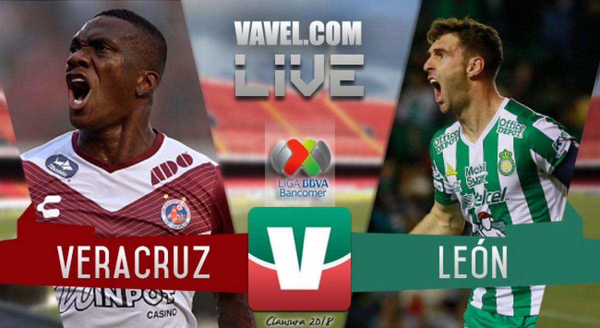 Resultado y goles del Veracruz vs León en la Liga MX (1-2)