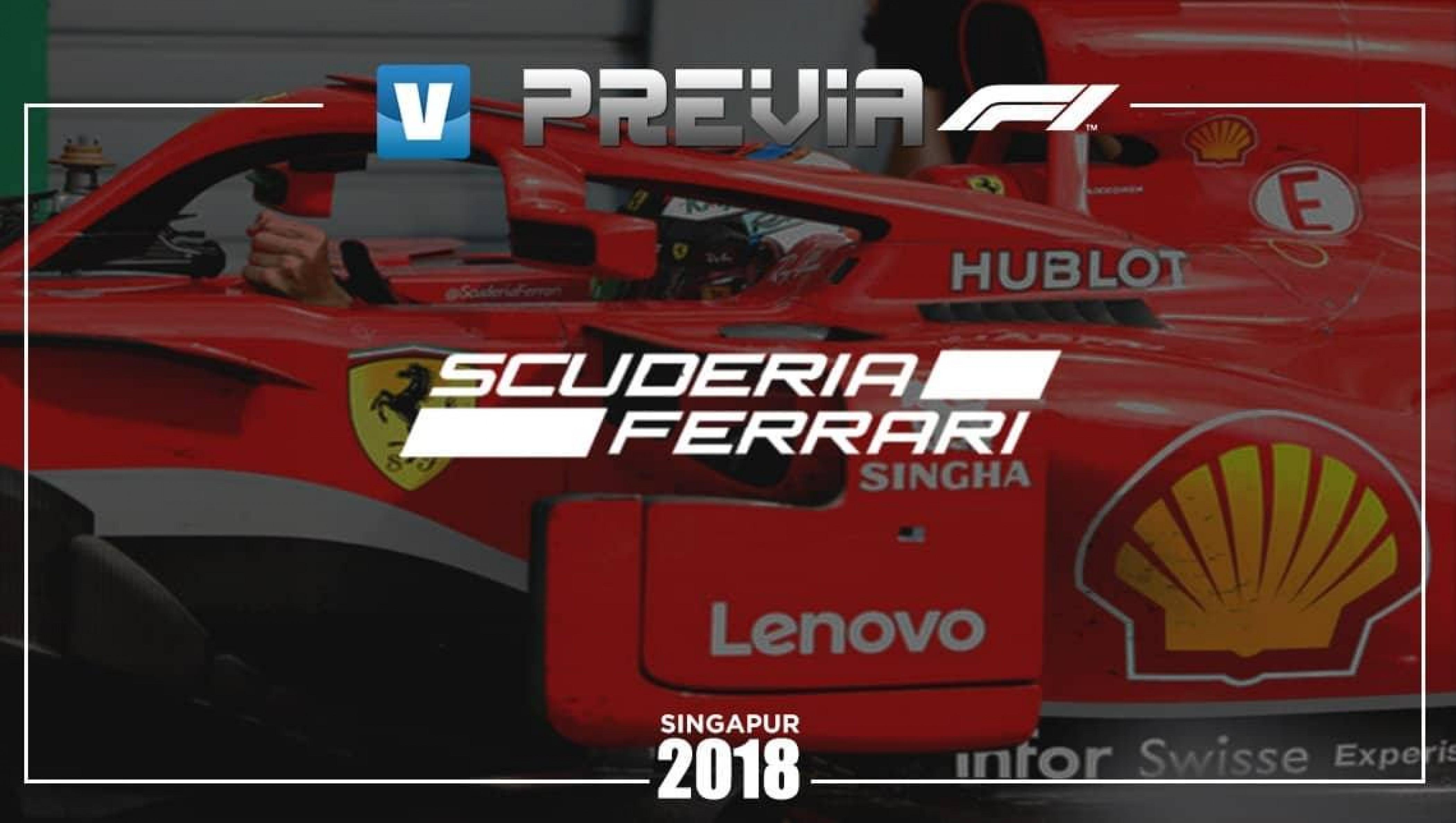 Previa Ferrari en el Gran Premio de Singapur 2018: En busca del éxito
