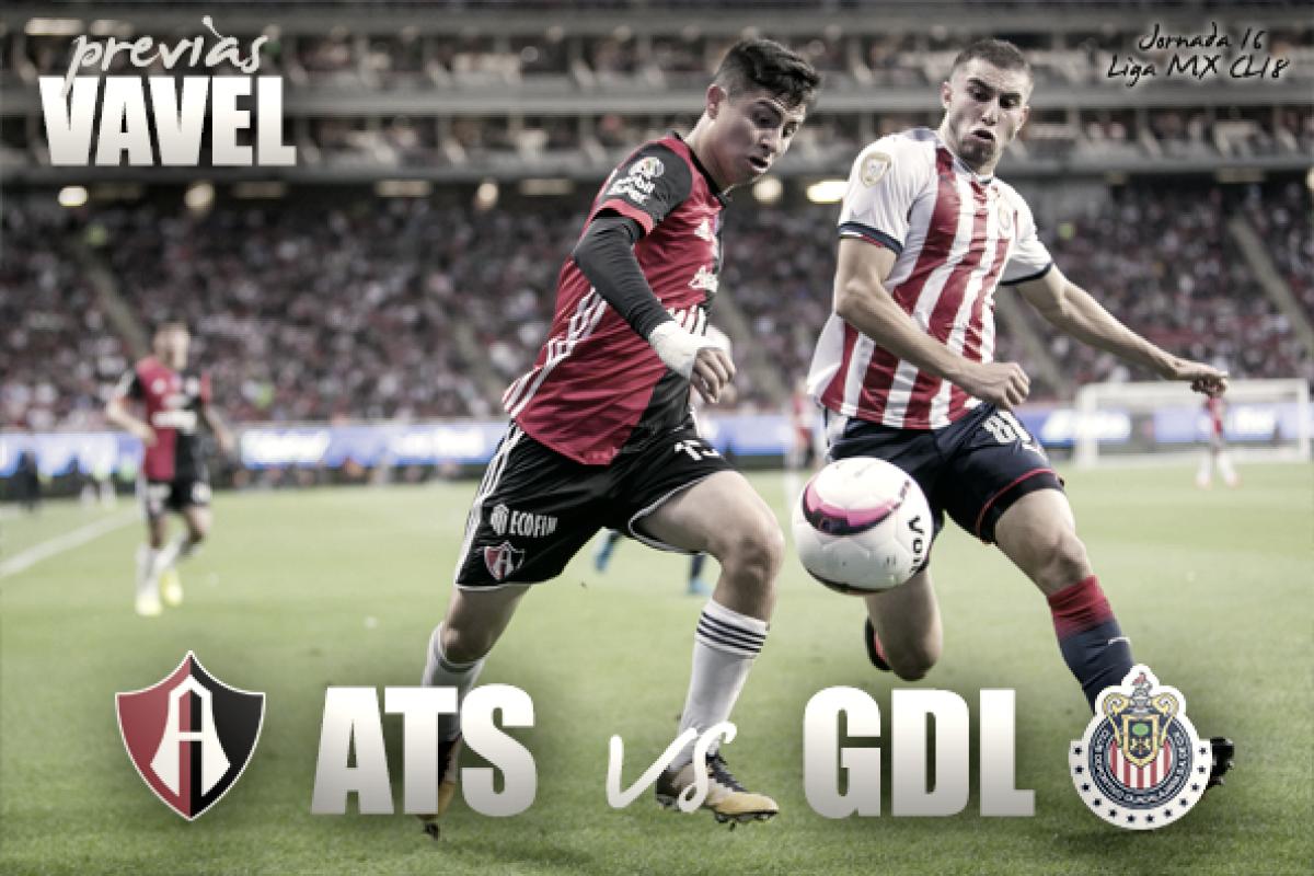 Previa Atlas - Chivas: no hay excusas para ganar