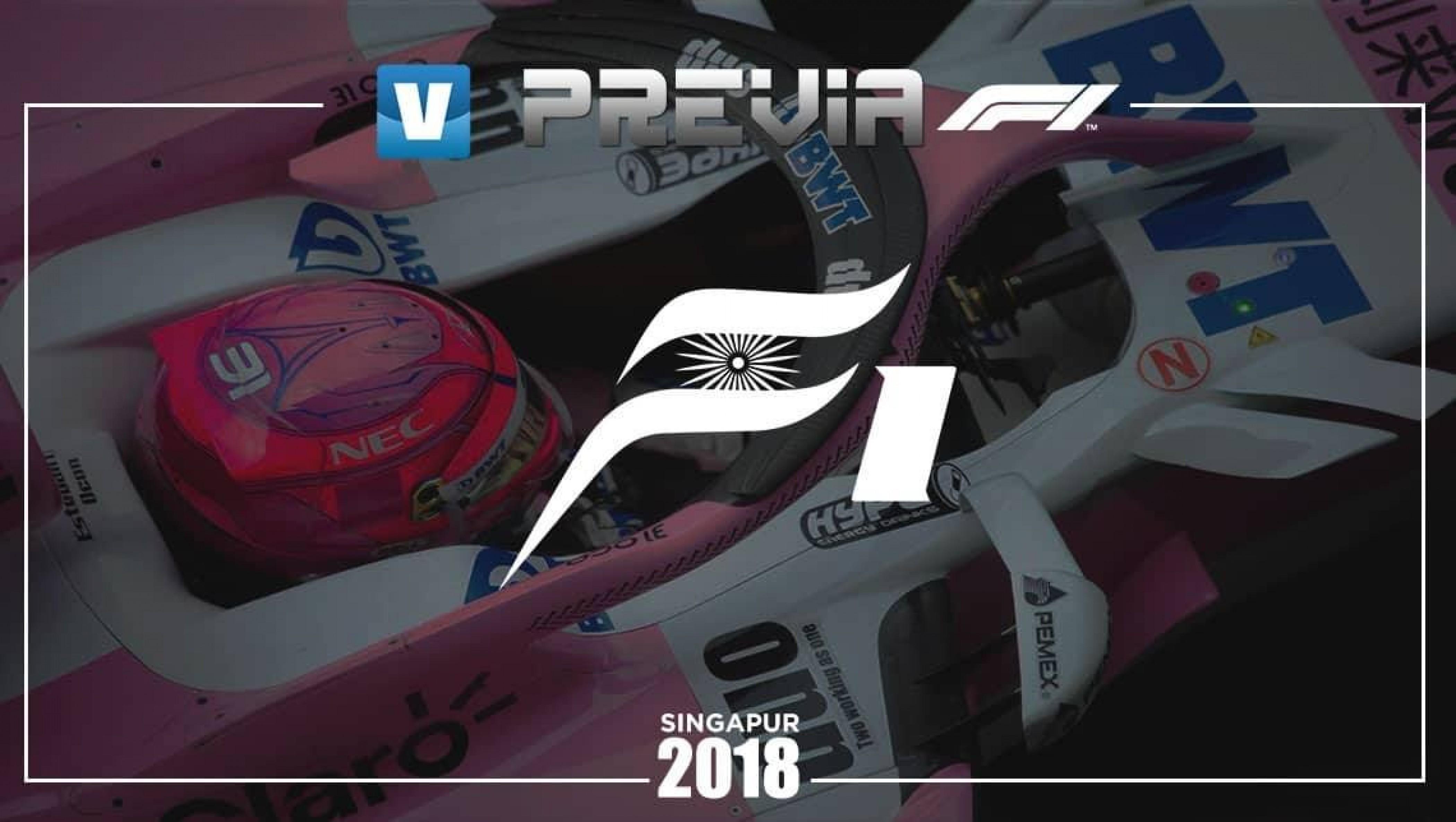 Previa de Force India en el GP de Singapur 2018: seguir construyendo