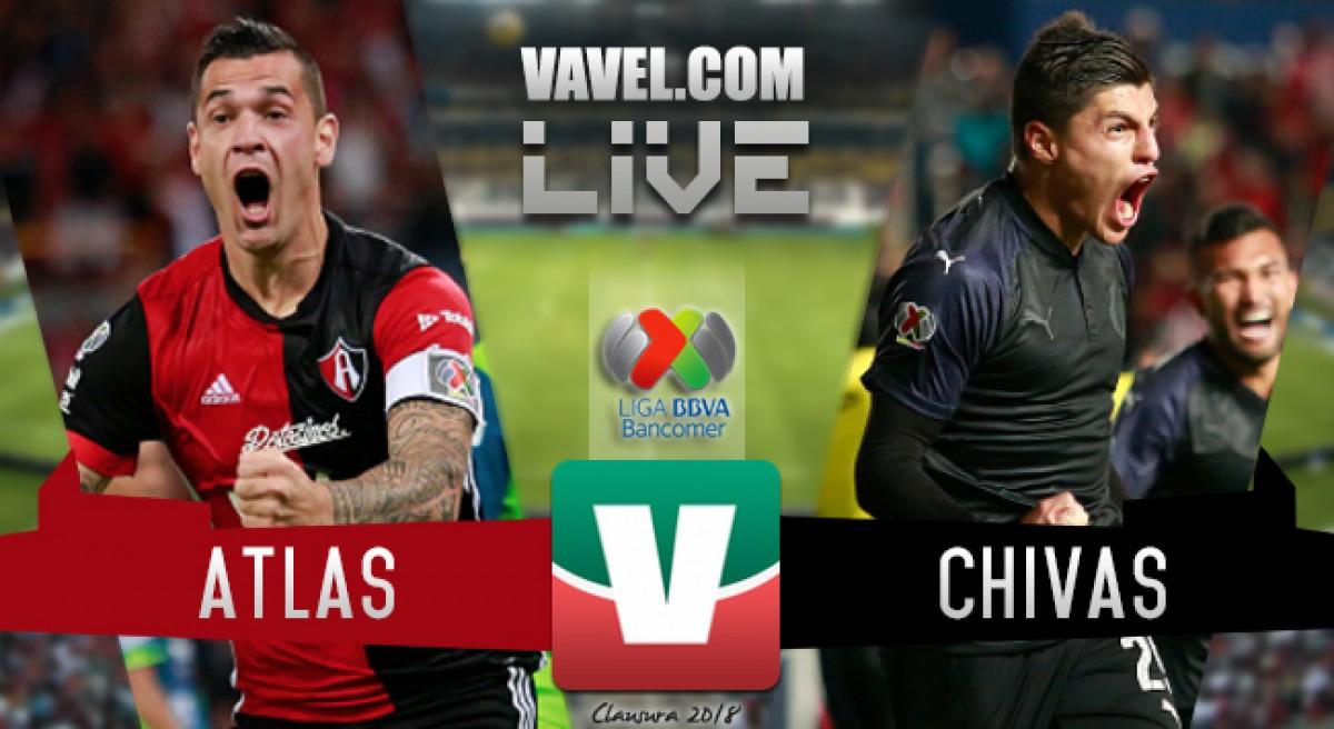 Gol del partido Atlas vs Chivas en Liga MX 2018 (1-0)