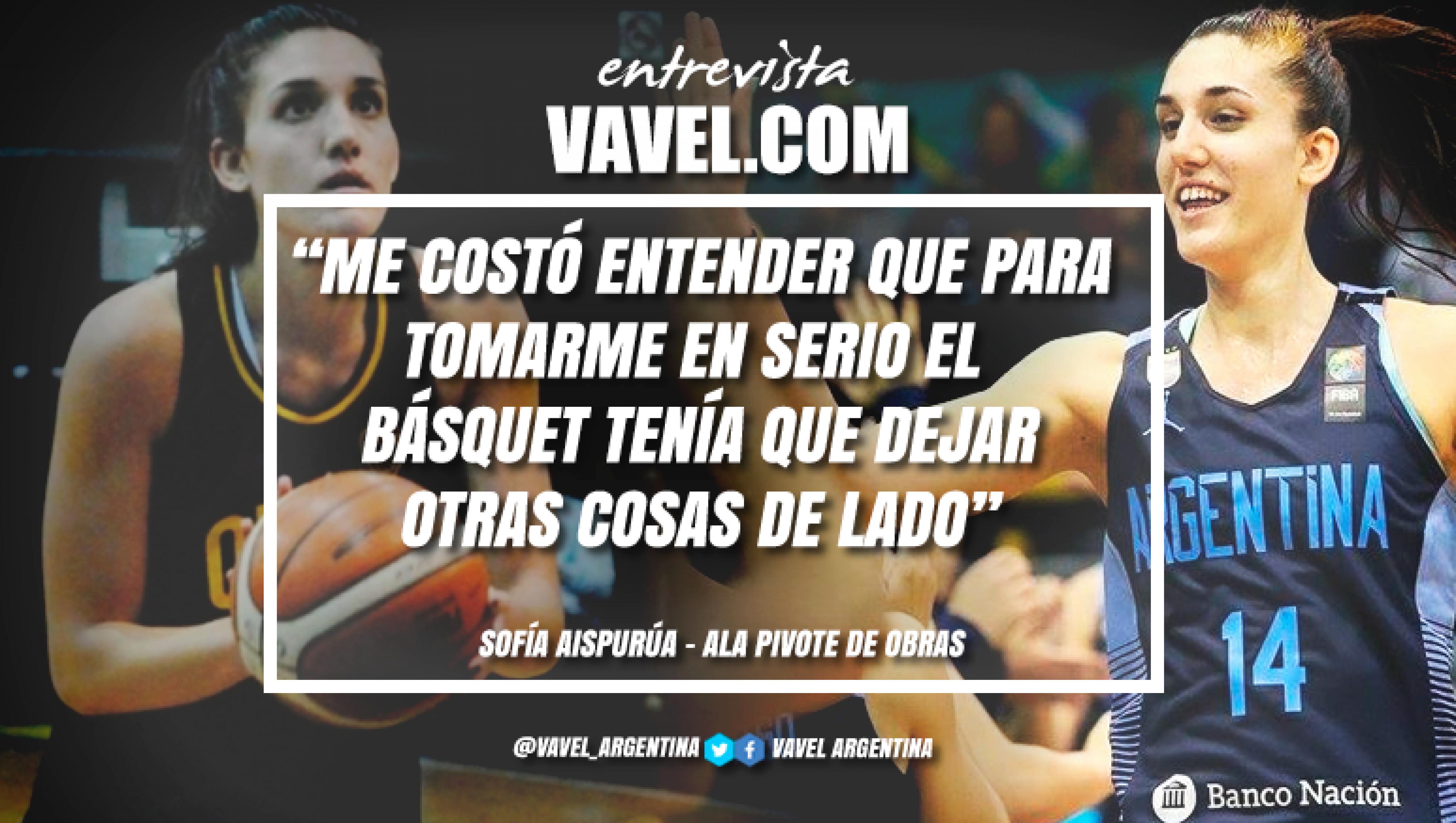 """Entrevista. Sofia Aispurúa: """"Lo primero que quiero es jugar"""""""