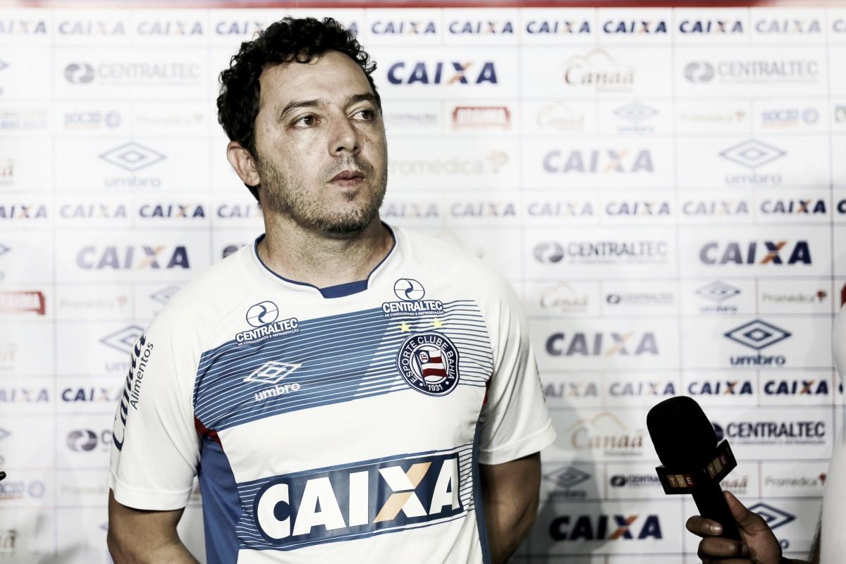 """Alexandre Faganello lamenta baixo aproveitamento ofensivo do Bahia: """"Nosso principal erro"""""""