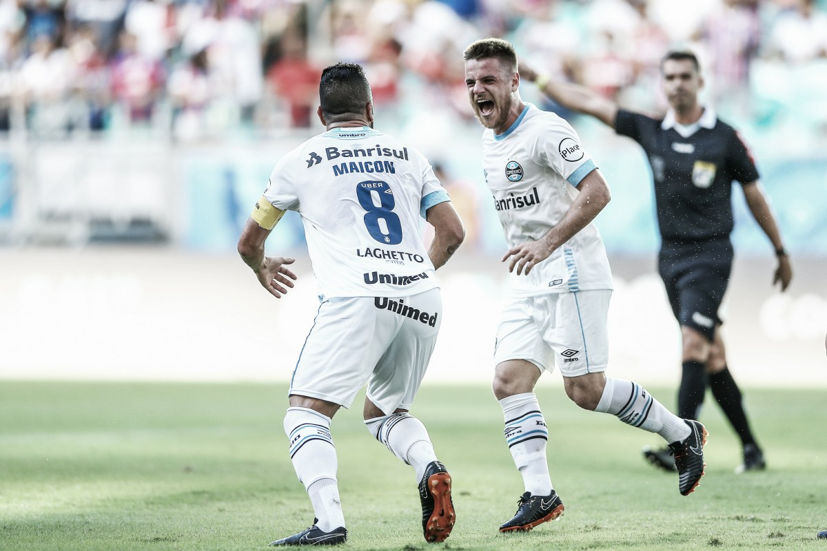 Bahia sofre primeiro revés como mandante diante do Grêmio e entra na zona de rebaixamento