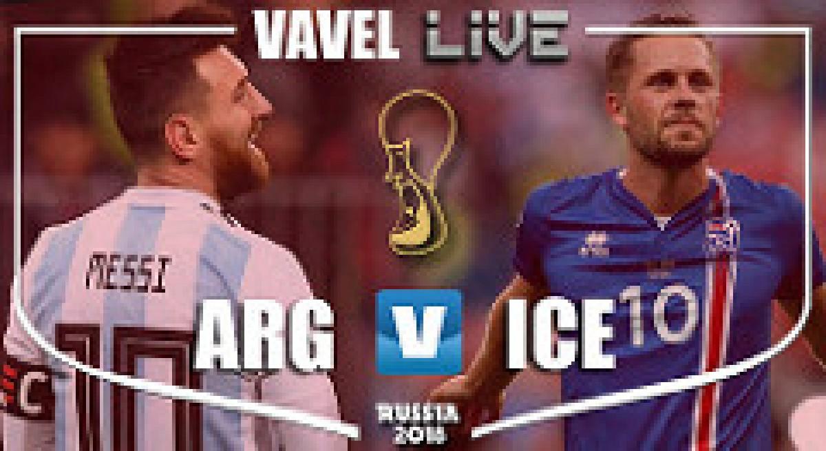 Live Football Score Argentina vs Iceland Match Center ...