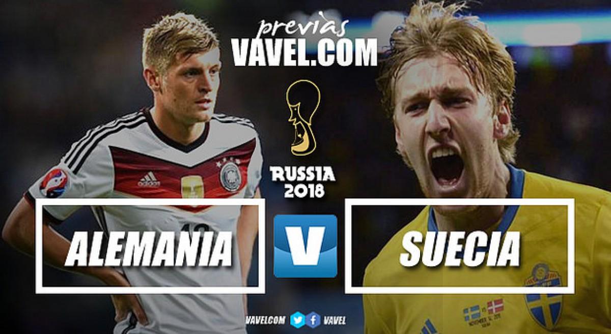 Previa Alemania - Suecia: se juegan la vida los campeones del mundo