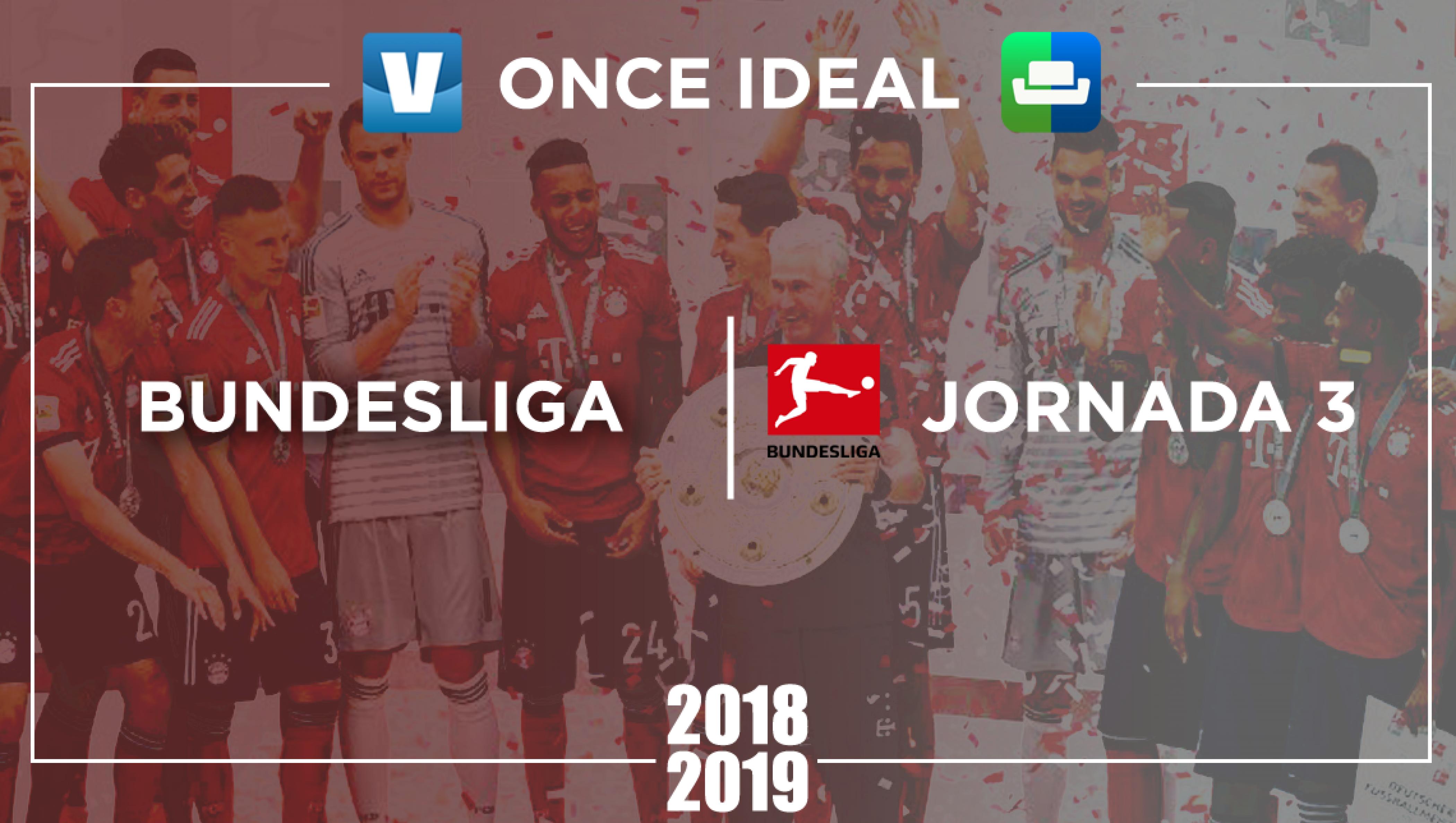 Once ideal de la Bundesliga sofascore de la 3° jornada