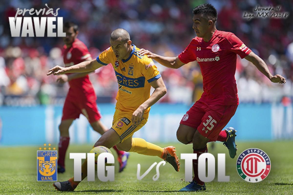 Previa Tigres - Toluca: por un récord más en casa