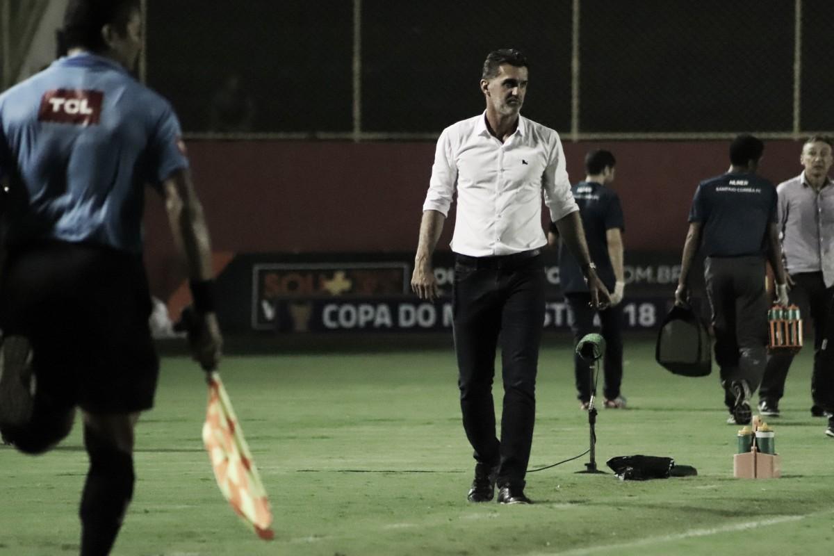 """Vagner Mancini aprova desempenho do Vitória sobre Chape: """"Equipe lutou muito"""""""