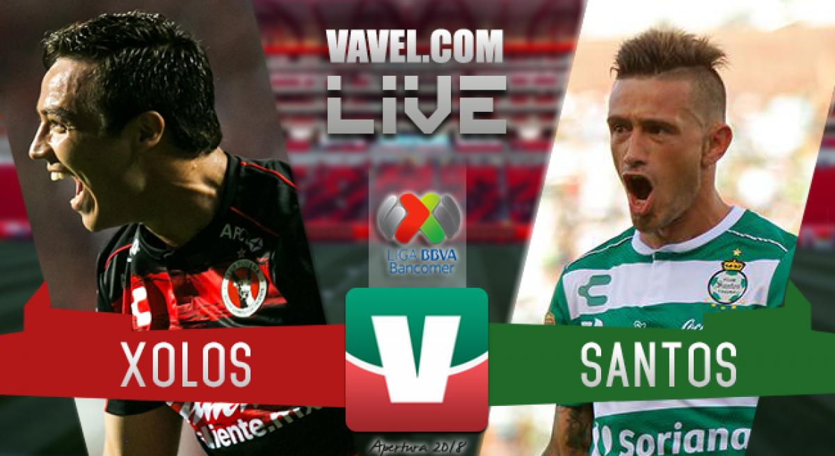 Resumen Xolos 2-2 Santos en Liga MX 2018