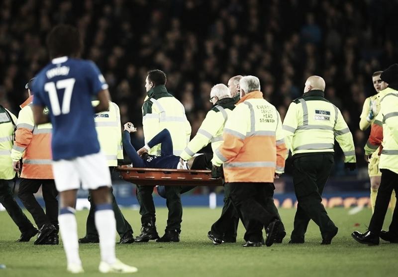 Em jogo marcado por grave lesão de André Gomes, Everton e Tottenham ficam no empate