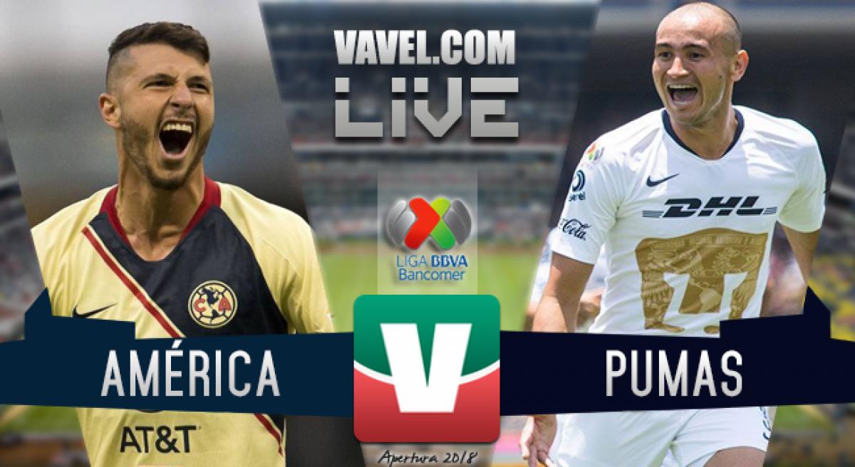 Resumen América 2-2 Pumas en Liga MX 2018