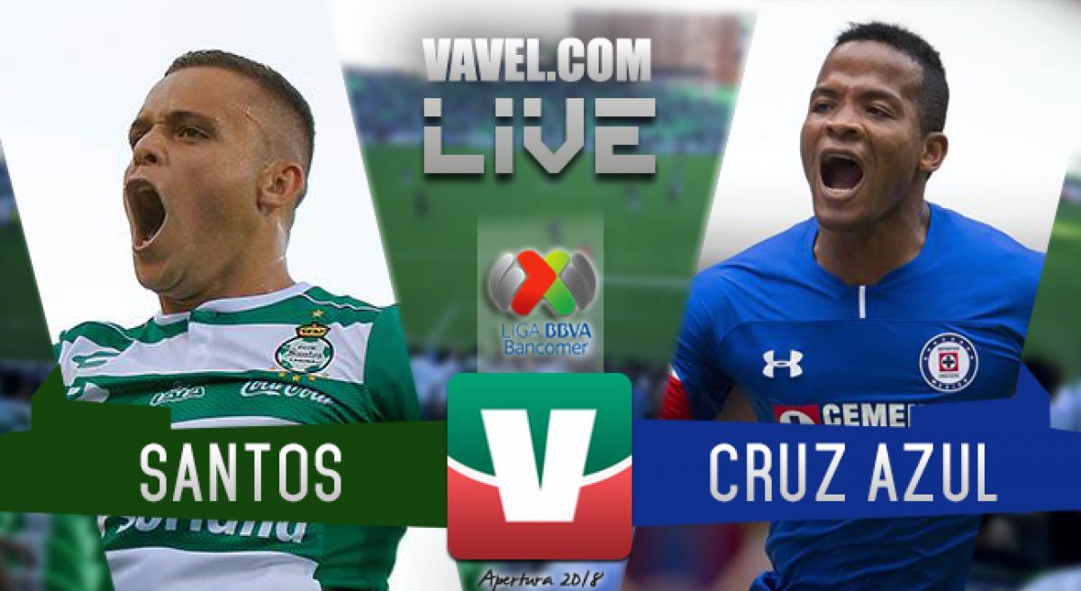 Resultado y goles del Santos 1-1 Cruz Azul Liga MX 2018