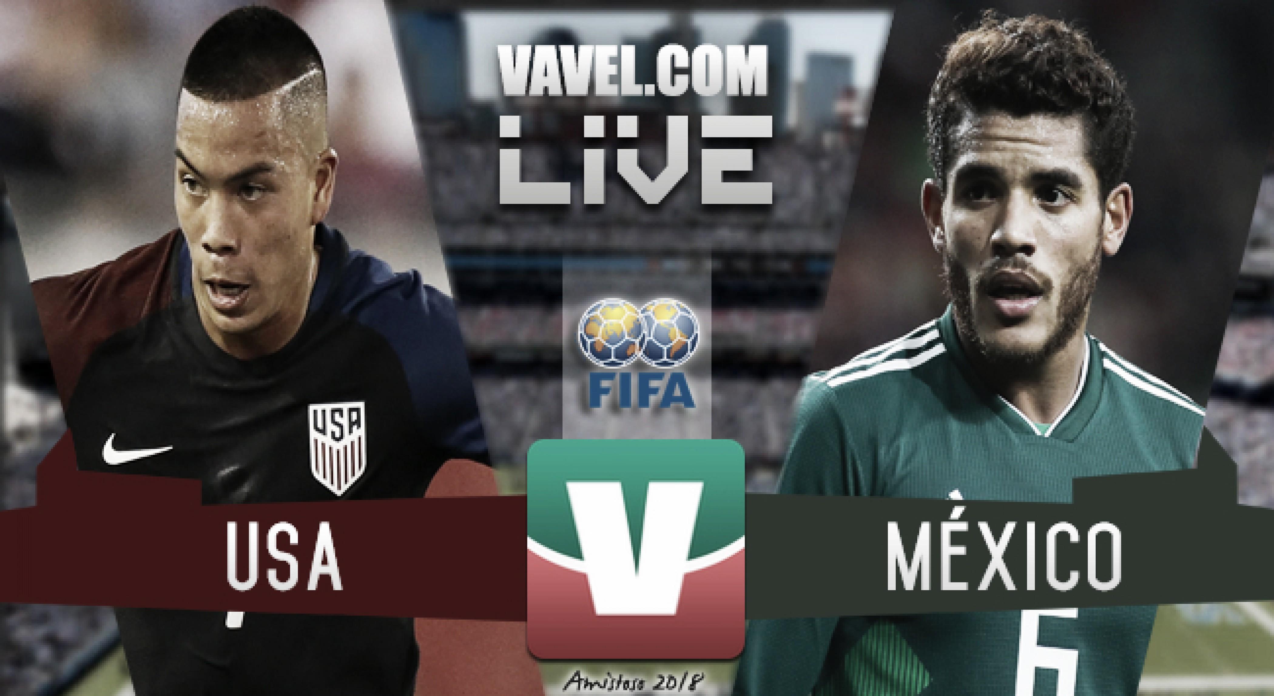 Resultado Estados Unidos 1-0 México en amistoso 2018