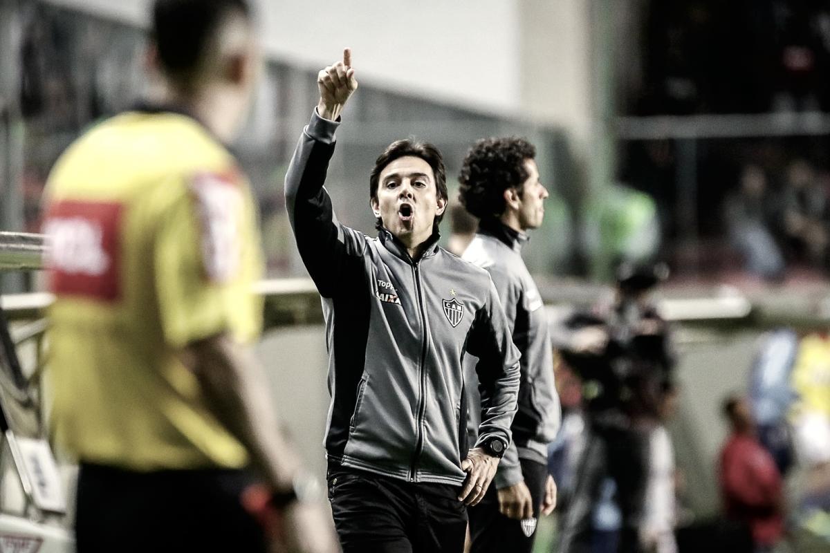 """Thiago Larghi admite atuação irregular, mas exalta garra do Atlético-MG: """"Jogou para vencer"""""""