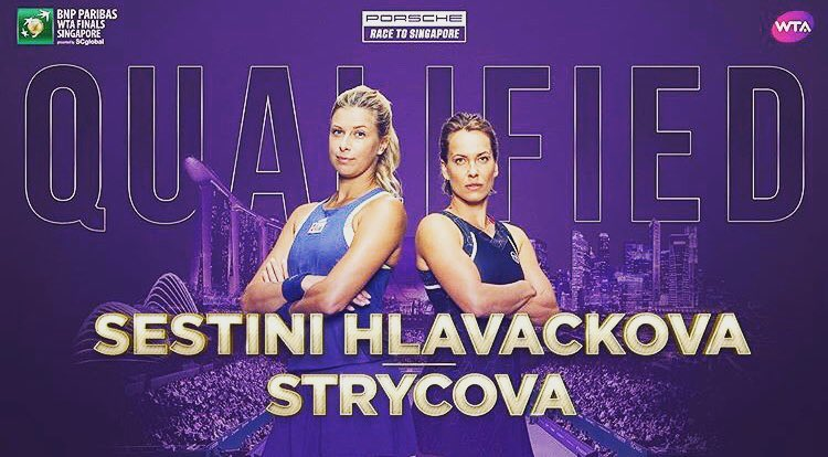 Barbora Strycova and Andrea Sestini Hlavackova Qualify For Singapore