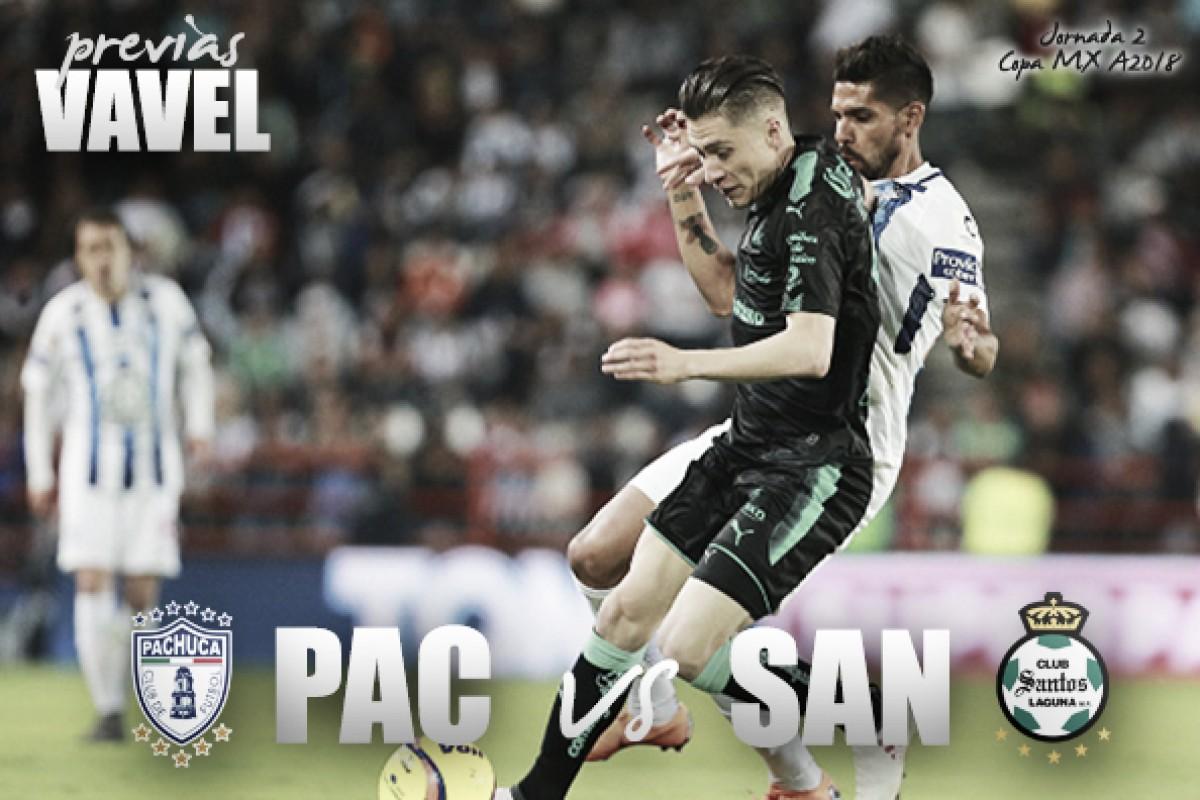 Previa Pachuca - Santos: a mantener el buen paso en Copa MX