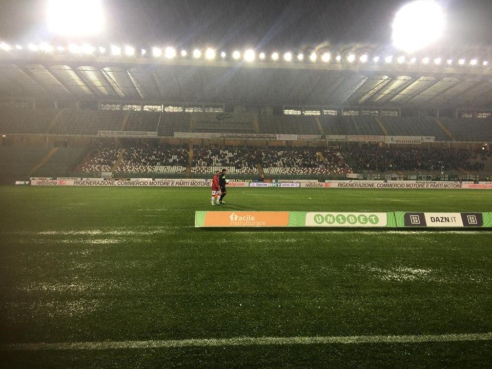 Serie B - Padova-Pescara rinviata per maltempo