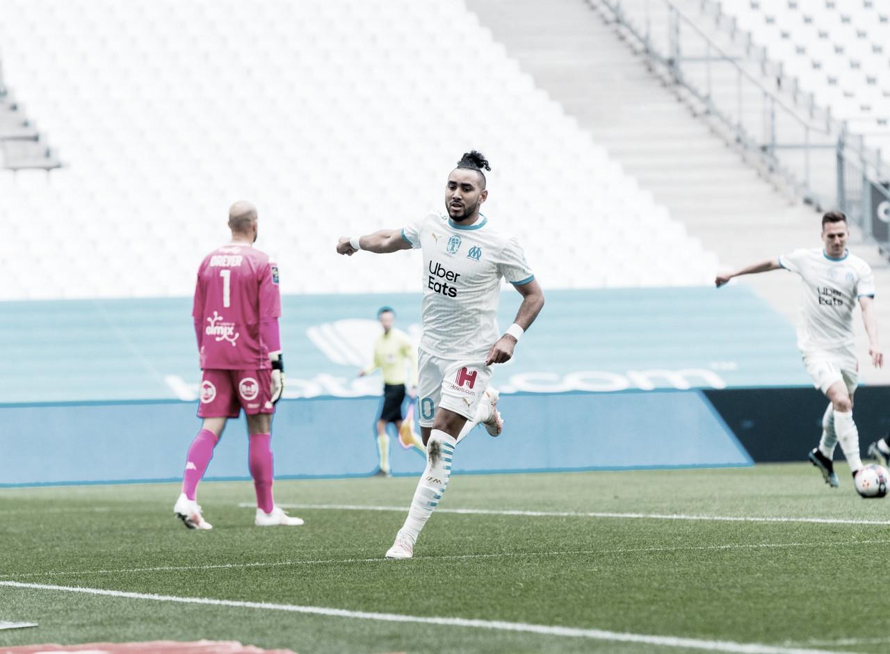 Olympique de Marseille vence Lorient no fim e acirra disputa por competições europeias
